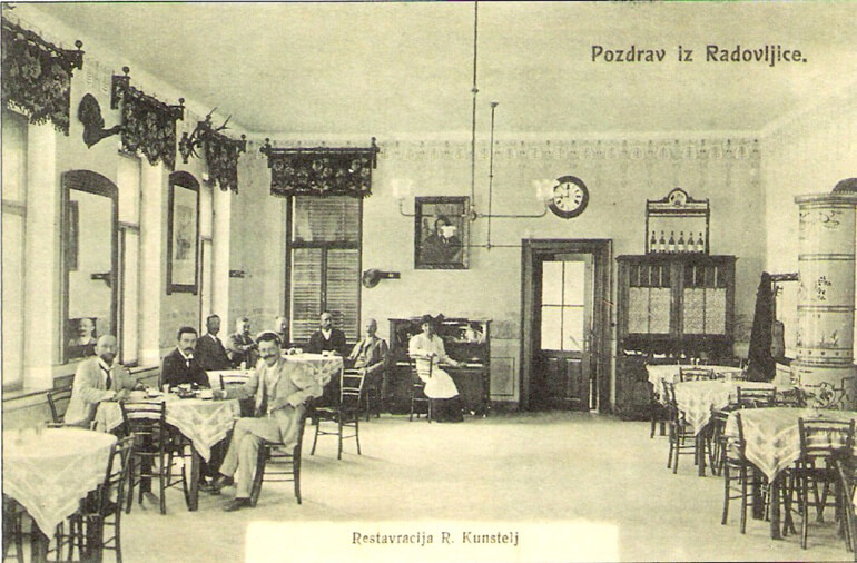 The Rudolf Kunstelj restaurant in 1906