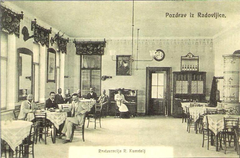 The Rudolf Kunstelj restaurant in 1906